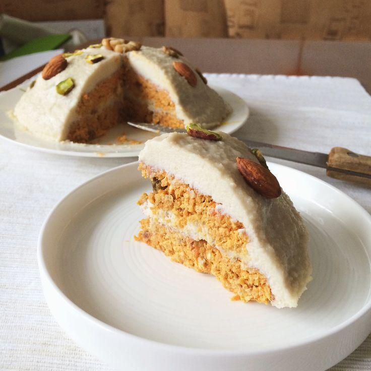 морковный торт. Веган, без муки, без сахара