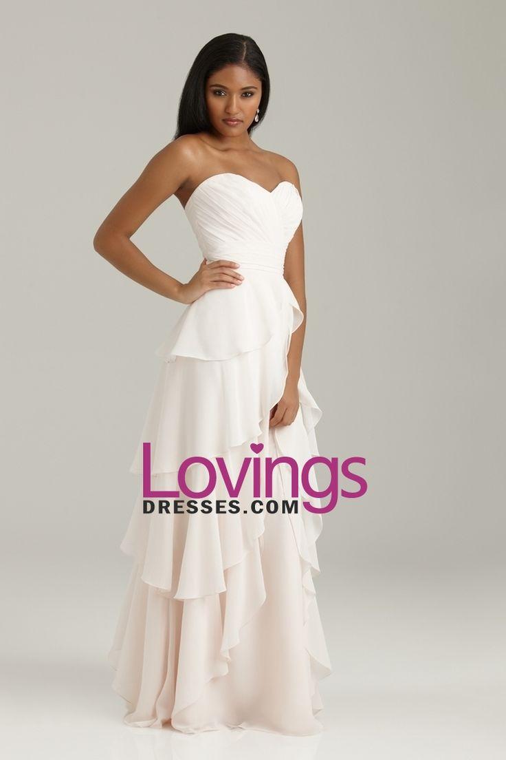 2013 Bridesmaid Dresses A Line Sweetheart Floor Length Chiffon With Ruffle US$ 109.99 LDPGFMLB18 - lovingsdresses.com for mobile