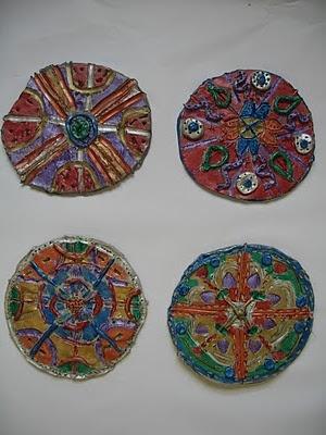 gr. 2-4 slab mandalas- aren't these nice?