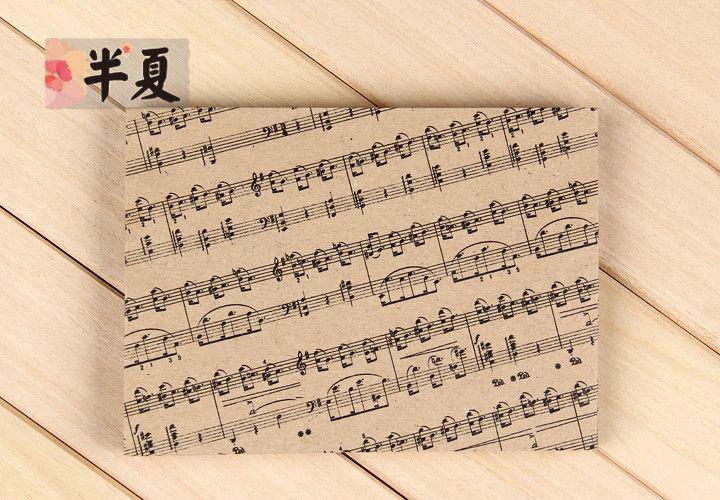 5 pz 175x125mm di alta qualità spessa carta kraft busta set stampato music note in 5 pz 175x125mm Di alta qualità carta spessa Kraft Busta set Stampato music note  1. Bustada Busta su AliExpress.com | Gruppo Alibaba