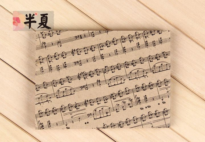 5 pz 175x125mm di alta qualità spessa carta kraft busta set stampato music note in 5 pz 175x125mm Di alta qualità carta spessa Kraft Busta set Stampato music note   1. Bustada Busta su AliExpress.com | Gruppo Alibaba