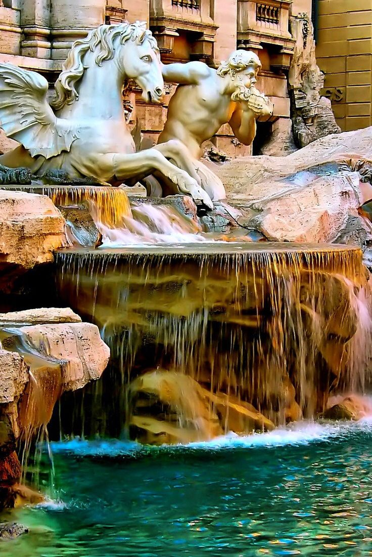 Trevi Fountain - Rome, Italy. Tossed coin:) fun summer 2006
