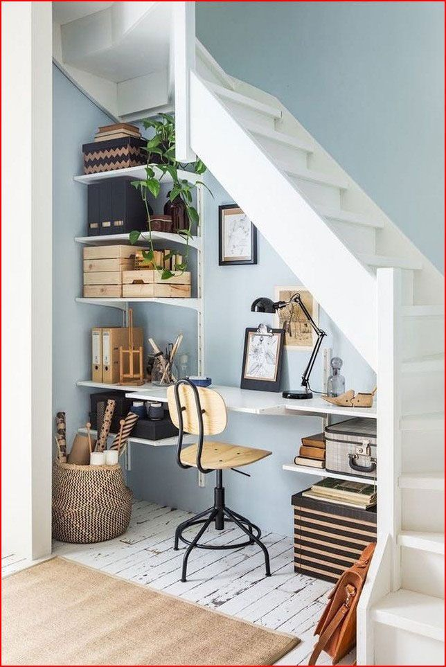15 Charming Small Office Ideas Pinterest In 2020 Home Office Design Stair Nook Home