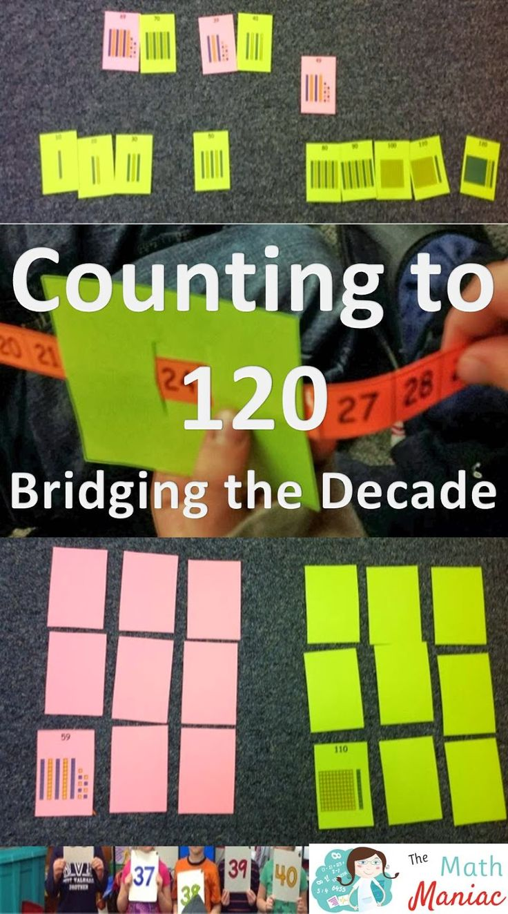 The Elementary Math Maniac: Counting to 120 and bridging the decade