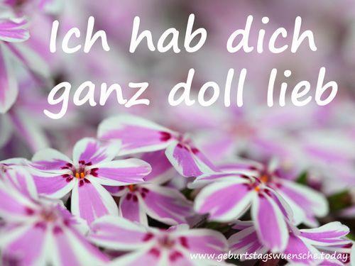 Ich Hab Dich Ganz Doll Lieb Liebeserklärung Pinterest Dolls