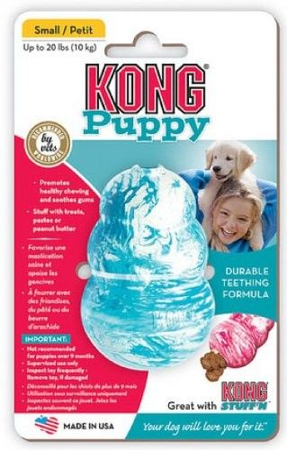 KONG Puppy Kong Toy, Small, Assorted Pink/Blue - Chew Toys #Dogs #Dog #Pets #Pet #Gift #Gifts #Christmas #Holiday #Holidays #Present #Presents #Accessories #Dog #Dogs #Chew #Toys #Toy $2.90