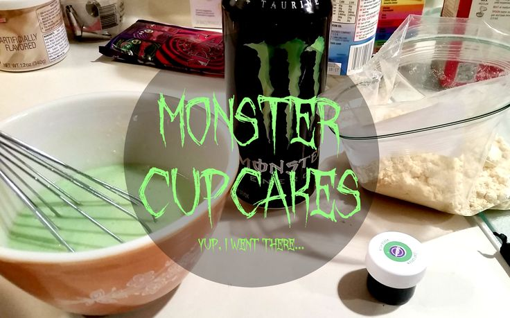 Monster Energy Drink Cupcakes// Being Leanna