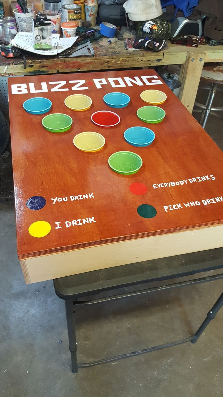 Buzz Pong Beer pong tables, Woodworking projects, Poker
