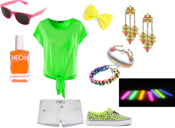 """""""Black Light Party?"""" by danicaaaaaf on Polyvore But different shoes"""