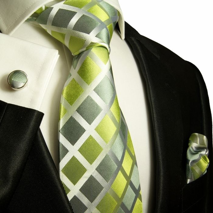Men's Ties and Pocket Squares | Necktie, Lime Green, Silk Tie, Mens Necktie and pocket square