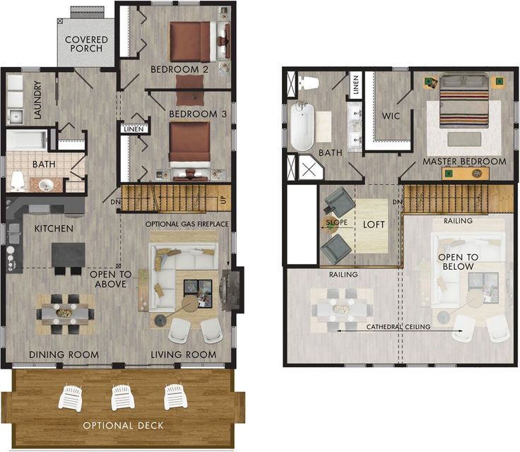 Great Layout And Master Suite With Loft. Could Easily Remove Bedroom 3 For  Less Sq