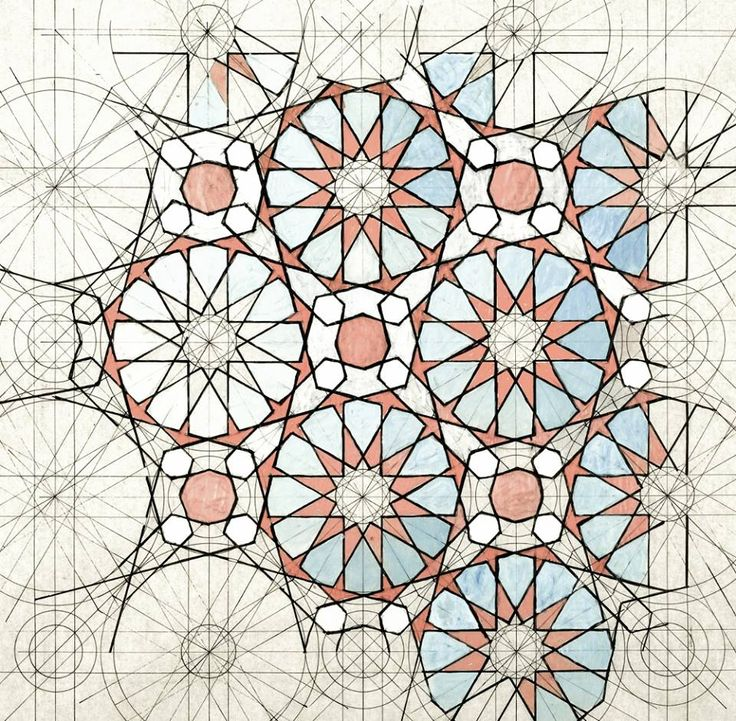 Rafael Araujo. Alhambra´s tiling patterns ink+watercolours/ paper 2016