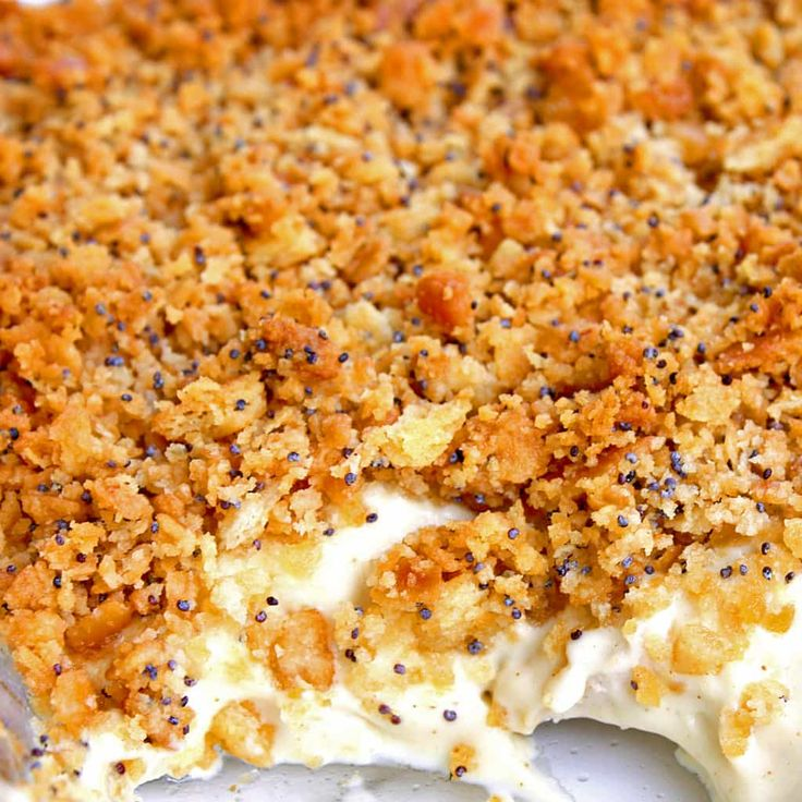 Poppy Seed Chicken - A creamy and easy dinner that your whole family will love. the-girl-who-ate-everything.com