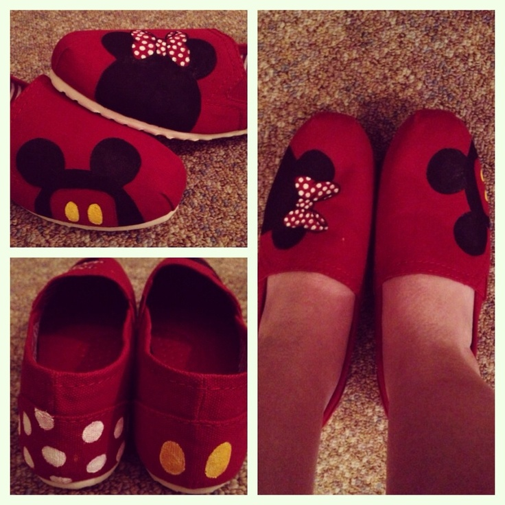 Mickey & Minnie Disney Painted Shoes