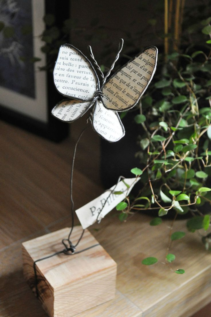wire and paper butterfly