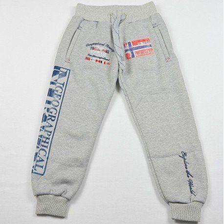 #Pantalon #jogging #garçon Geographical Norway #molletonné gris