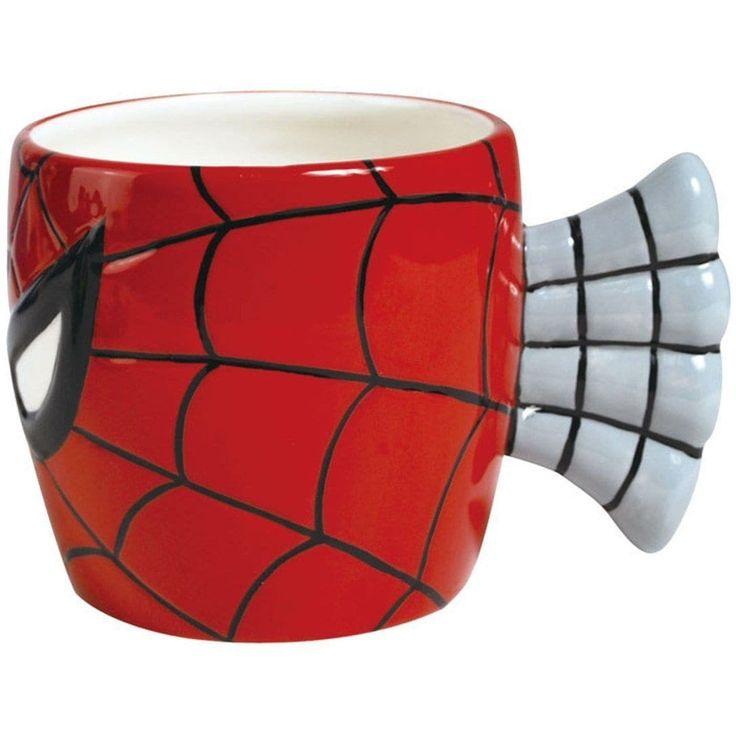 Spiderman Face 12 Ounce Mug, Red