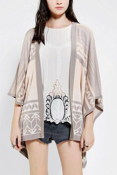 Gentle Fawn Poncho Sweater - only one left!