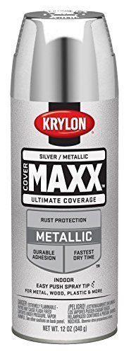 Metallic Silver Spray Paint For Plastic Metal Wood & Wheel Painting Fast Drying #Krylon