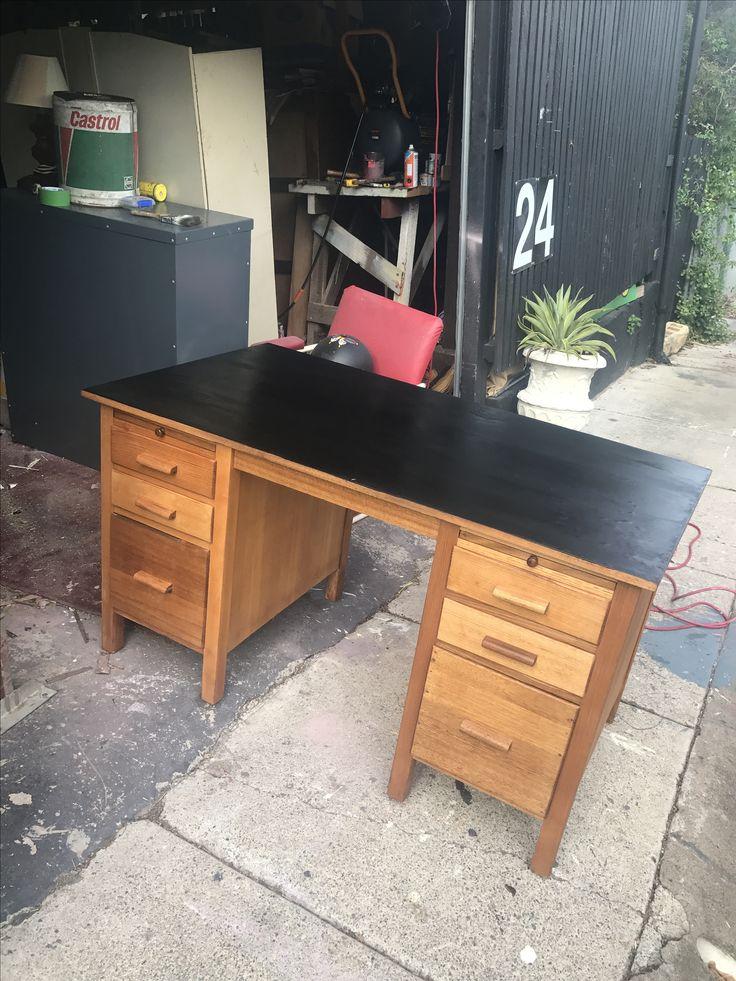 Refurbished wooden desk