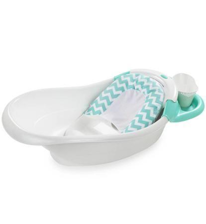 Summer Infant Детская ванна с гидромассажем  Warming Waterfall бело-бирюзовая  — 6190р.  Легкая и прочная ванночка с функцией циркуляции воды вдоль спины ребенка. Благодаря дополнительной вставке подойдет для новорожденных.