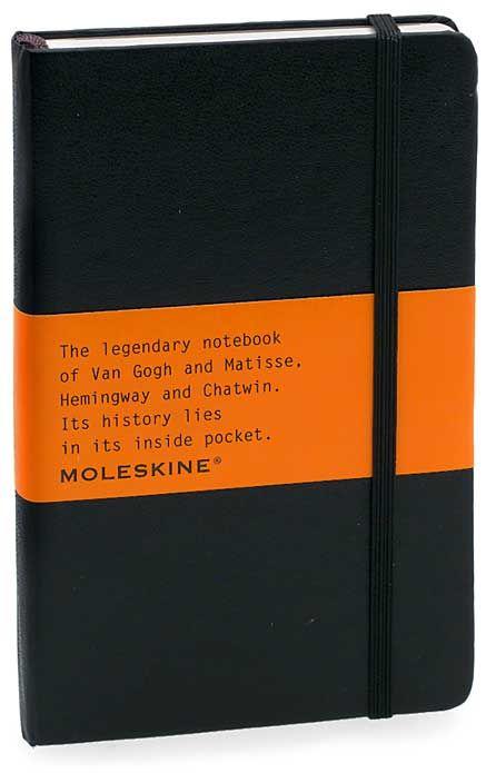 Moleskine journal.  An absolute must for writing.  Jotting ideas.  Brainstorming.  Poetry.  #moleskine
