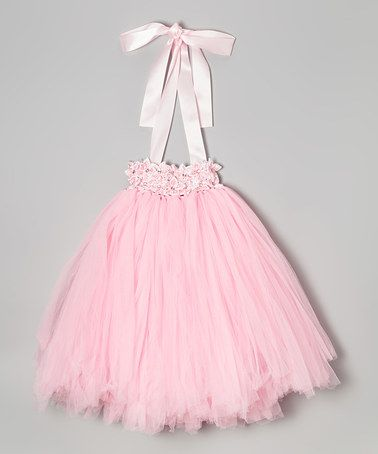 Love this Baby Pink Star Flower Tutu Dress - Infant, Toddler & Girls by Bébé Oh La La on #zulily! #zulilyfinds
