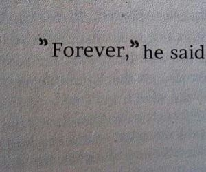 """Only forever?"" ""Forever, and ever."""
