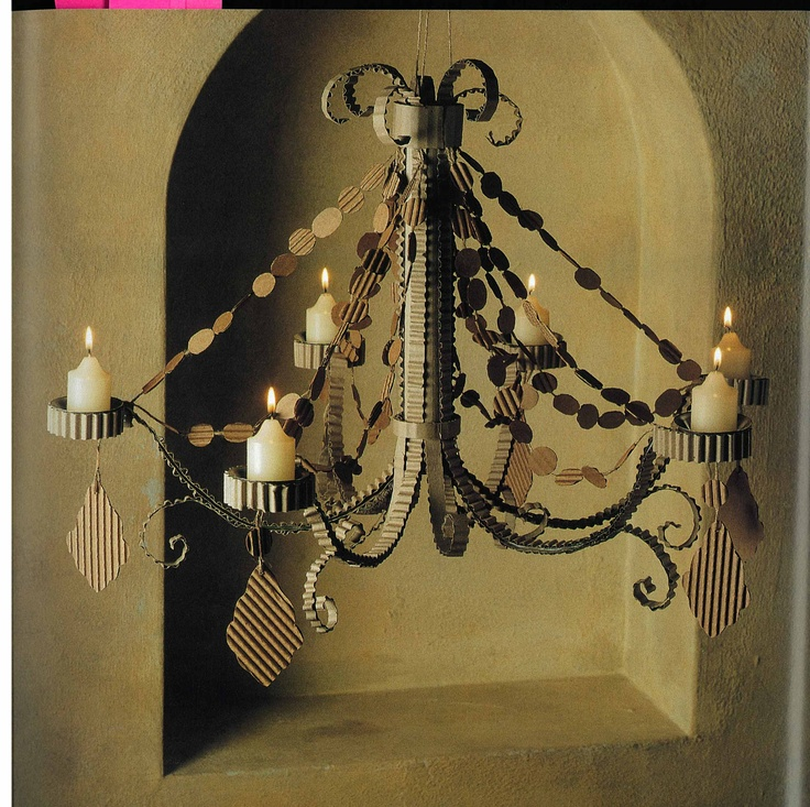 77 best projects to try images on pinterest chandeliers middle cardboard chandelier mozeypictures Images