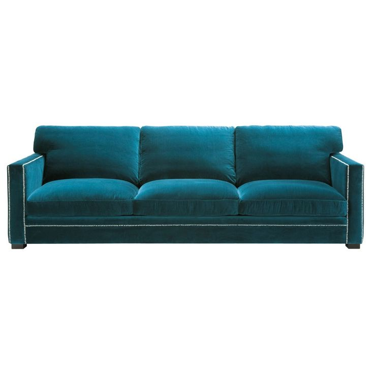 4/5 seater velvet sofa in blue - Dandy