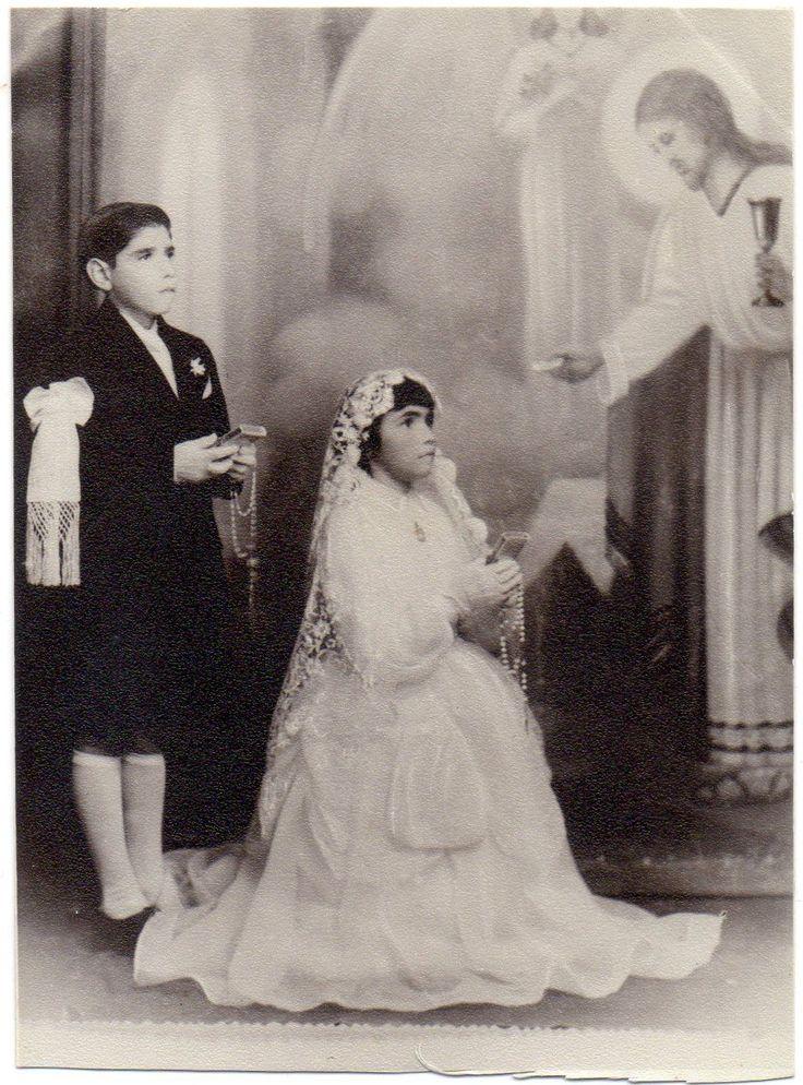 Старые оригинальные нечетные фото мальчик и девочка сначала Святое причастие Иисуса Христа изображение 20-е годы 20 века   eBay