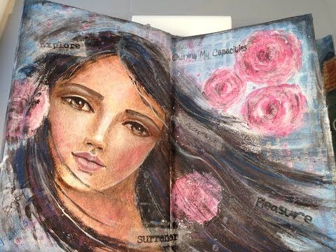 art journal inspiration. Art Journal Flip Through - YouTube