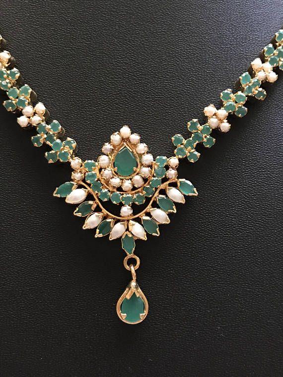Hyderabadi Necklace Indian Wedding Jewelry Hyderabadi