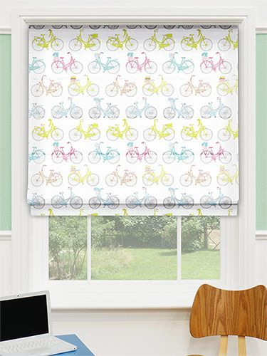 Vintage Vélo Tame Teal Roman Blind From Blinds 2go