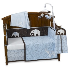 like this...maybe get the quilt and just a solid bumper...don't need too many elephants...
