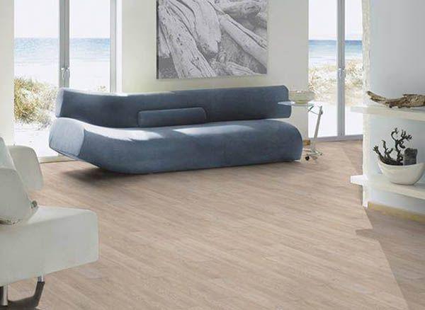 Great ter H rne Design Vinylboden Eiche Viborg beige u helles Wohnzimmer mit Meerblick und Vinylboden