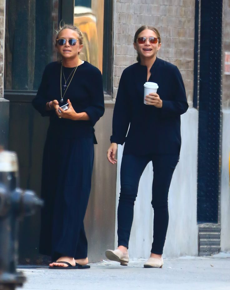 NEW YORK, NY - SEPTEMBER 04:  Actress Mary-Kate Olsen, Ashley Olsen is seen in Soho on September 4, 2015 in New York City.  (Photo by Raymond Hall/GC Images) via @AOL_Lifestyle Read more: https://www.aol.com/article/entertainment/2017/03/09/mary-kate-and-ashley-olsen-the-edit-interview/21877227/?a_dgi=aolshare_pinterest#fullscreen