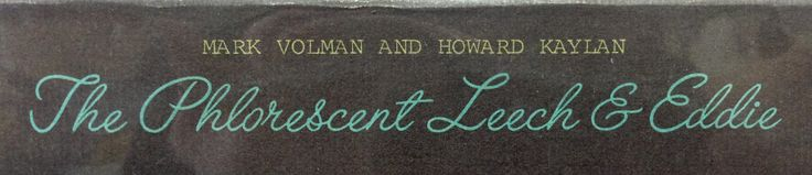 Just a little typographic snippet from an old album with otherwise unremarkable artwork.