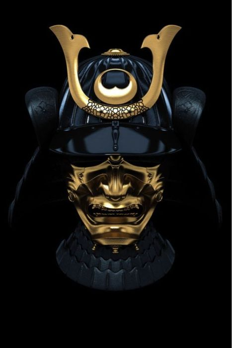 No wonder Japanese anime get their inspiration from... Samourai warrior helmet - Ancient 迫力ある鎧です