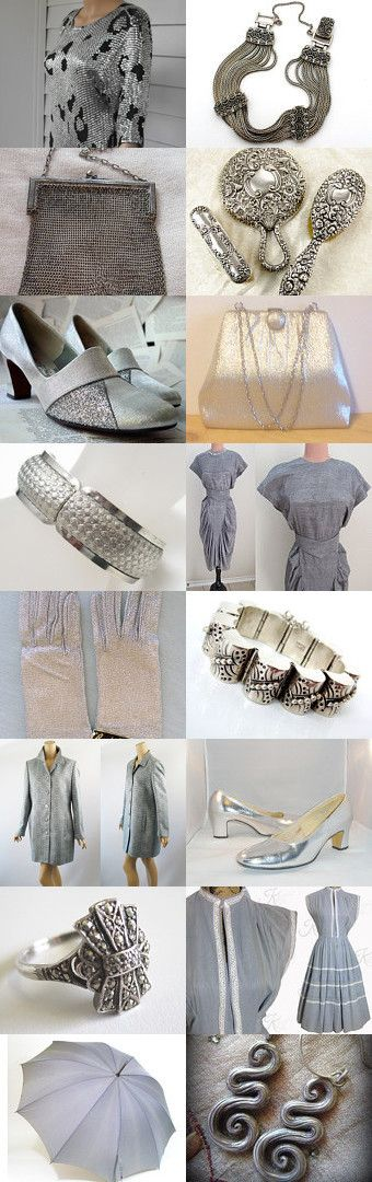silver, gray - everyday :)  by Dorota and Monika on Etsy--Pinned with TreasuryPin.com