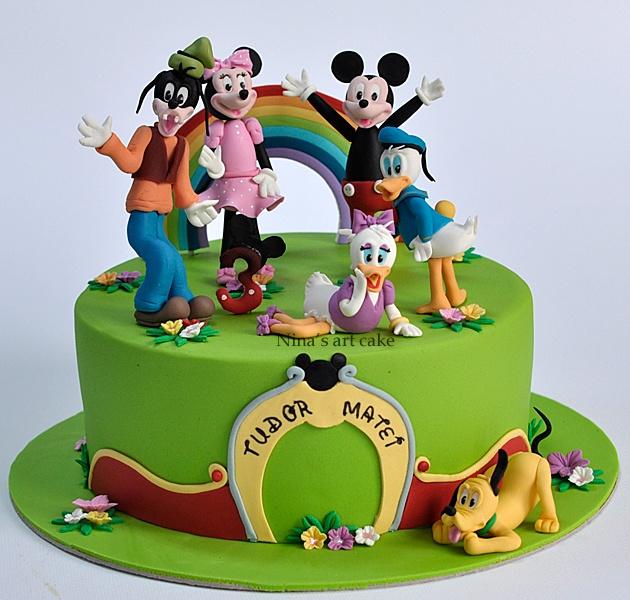 Nina's Art Cake: Tort Mickey Mouse & friends