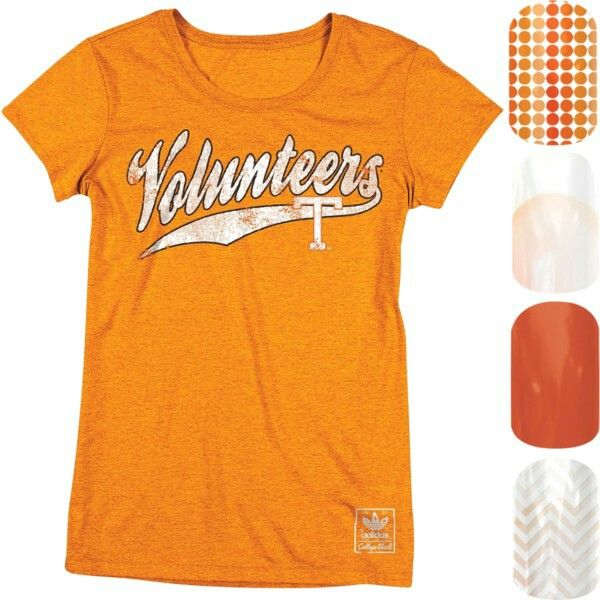 Tennessee Vols Jamberry Nails - Nail art  Get the look at  http://www.rebeccasibley.jamberrynails.net/