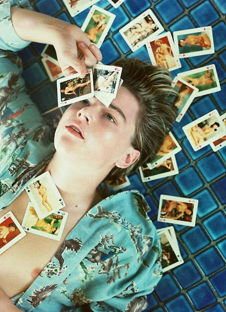 Portrait of Leonardo DiCaprio by David La Chapelle for Detour, 1996