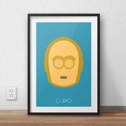 Plakat z postacią droida C-3PO dla dzieci i fanów filmu Gwiezdne Wojny
