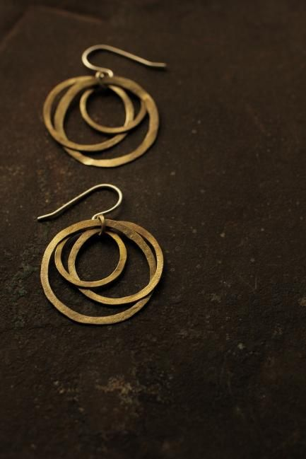 Brass 3 Hoop Earrings - IRRE