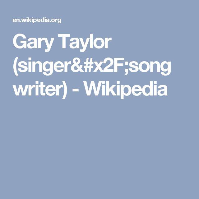 Gary Taylor (singer/songwriter) - Wikipedia