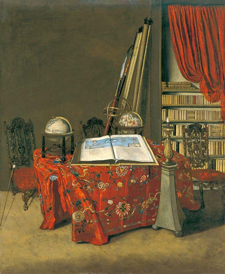 Jan VAN DER HEYDEN Corner of a Library 1711