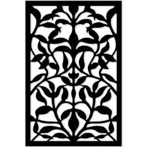 Acurio Latticeworks, 1/4 in. x 32 in. x 4 ft. Black Olive Branch Vinyl Decorative Panel, 3248PVCBK-OLVBR at The Home Depot - Mobile
