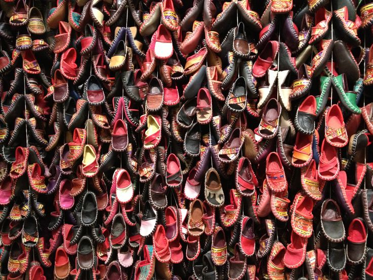 #istanbul little #leather #shoes in the #bazar