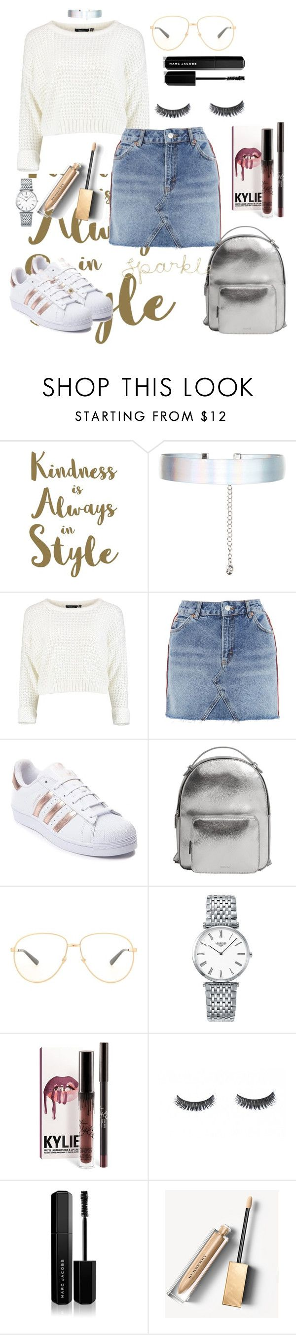 """"""""""" by saraprifti ❤ liked on Polyvore featuring Sixtrees, Accessorize, Topshop, adidas, MANGO, Gucci, Longines, Marc Jacobs and Burberry"""